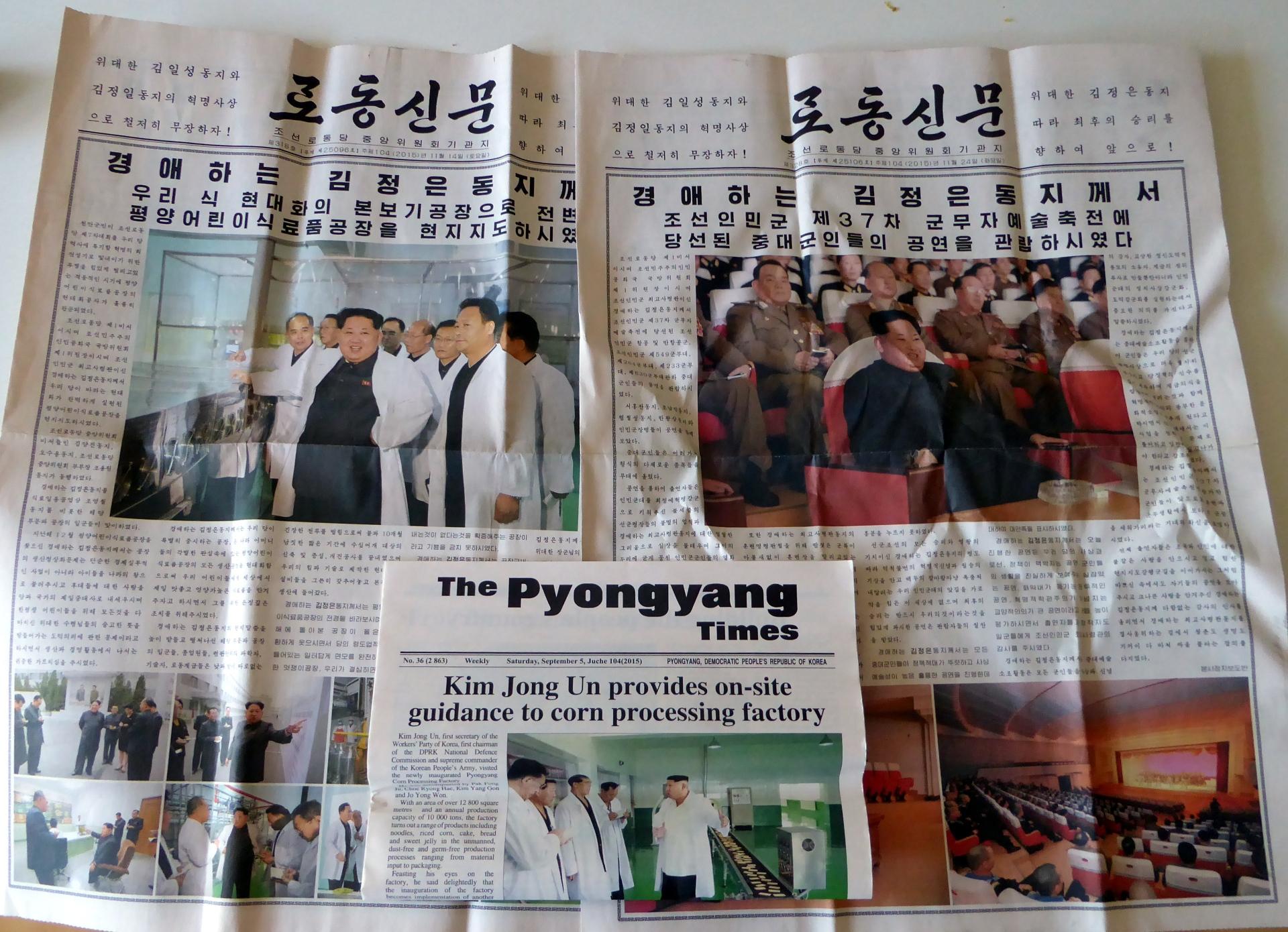 north korea newspaper news korean juche kim jong un
