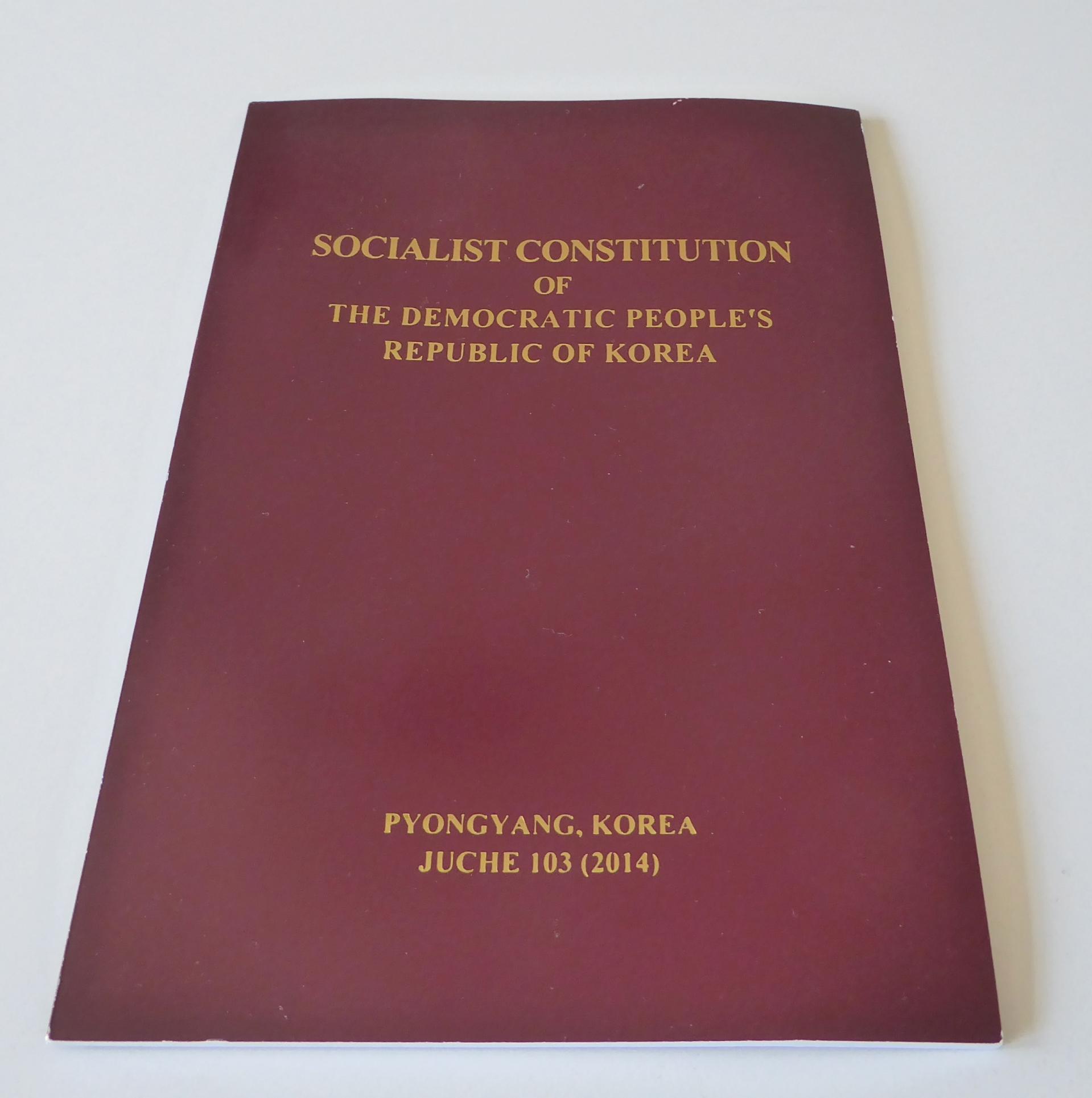 Socialist Constitution of the Democratic People's Republic of Korea Book North Korea souvenir souvenirs