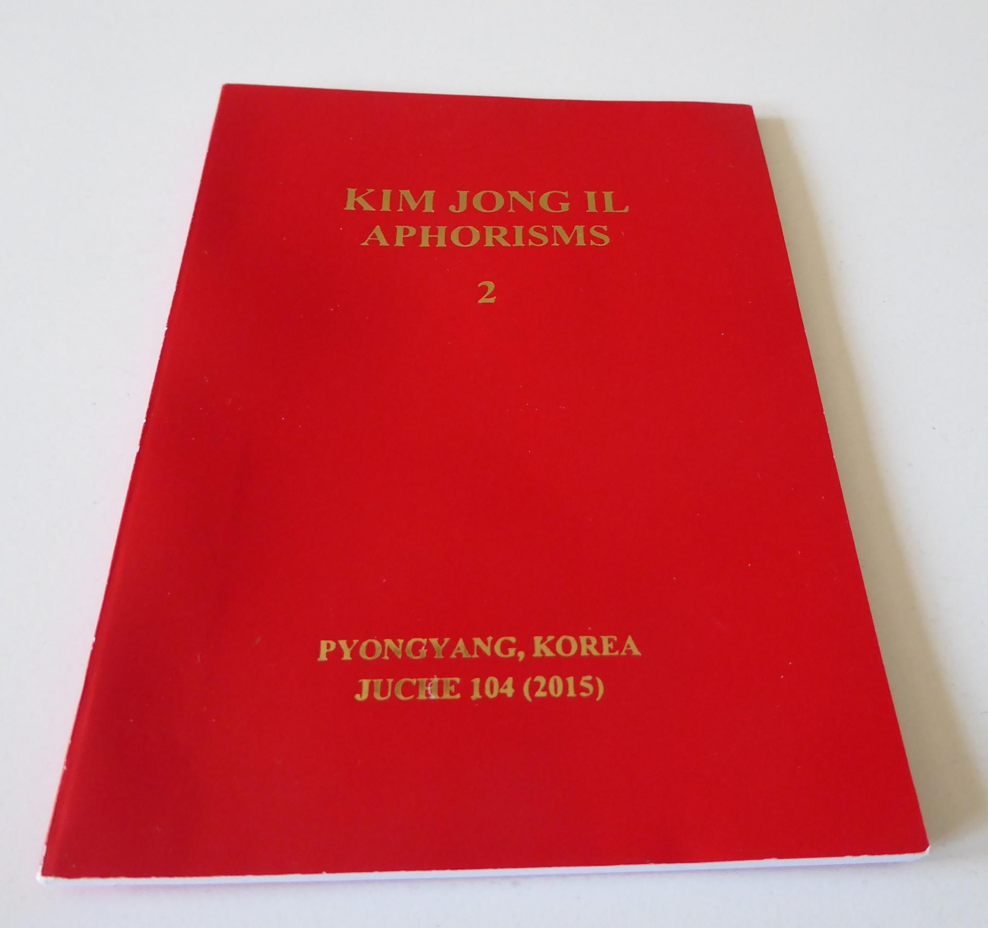 Kim Jong Il Aphorisms Quotes North korea dprk book souvenir souvenirs