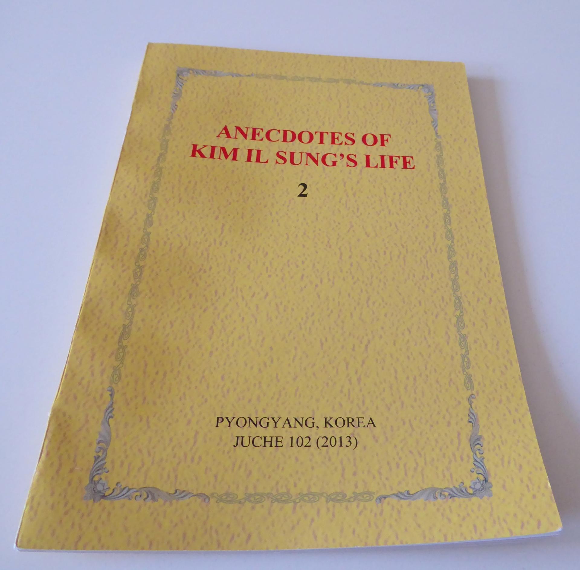 Anecdotes of Kim Il Sung's Life Book North Korea dprk souvenir souvenirs