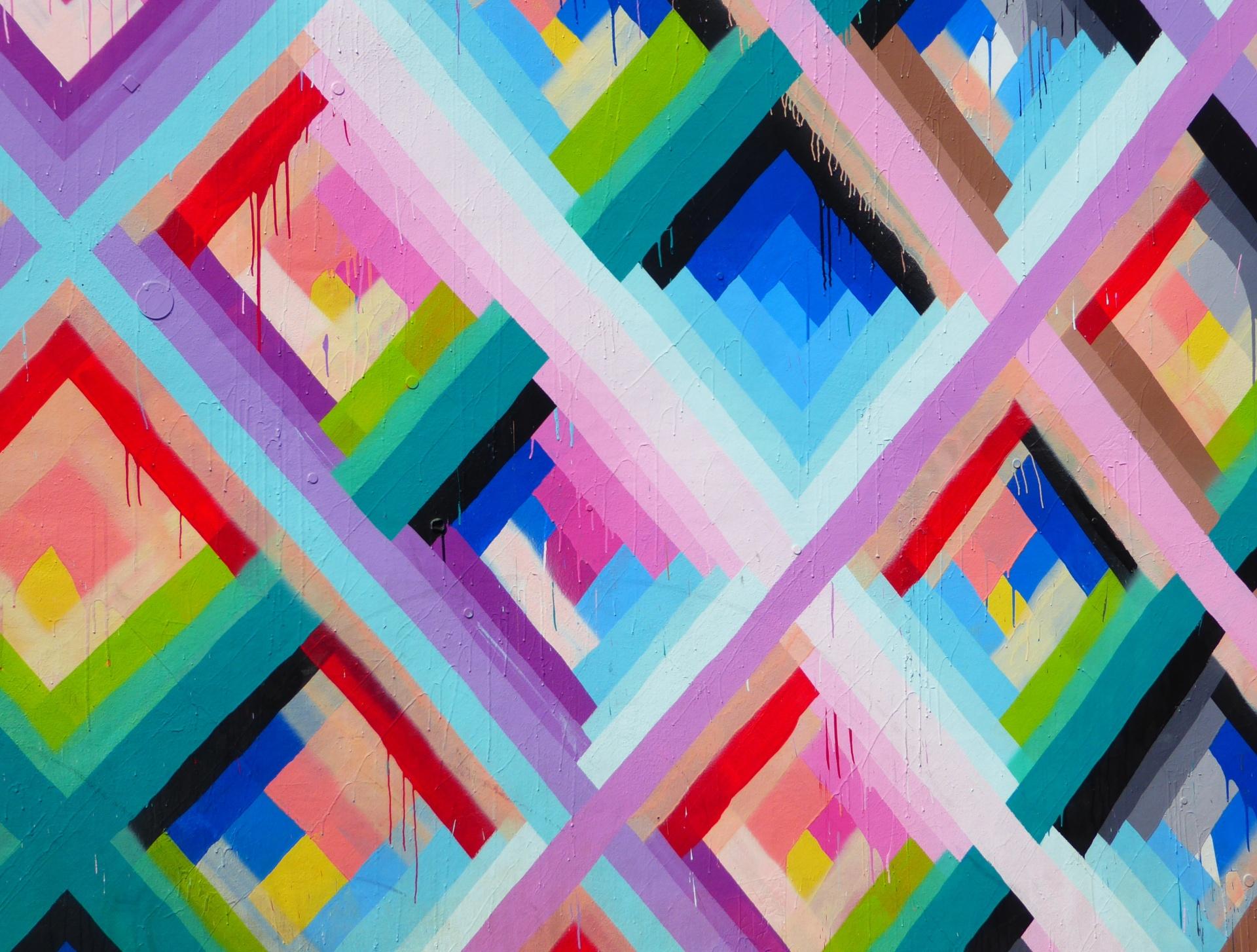 wynwood walls miami florida street art colourful colors colours geometric